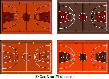法廷, ライン, バスケットボール, ベクトル