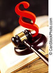 法廷, 小槌, 主題, 木槌, の, 裁判官