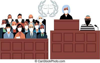 法廷, 時間, covid