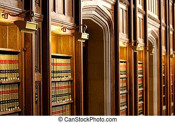 法律書, 圖書館