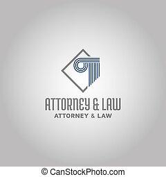 法律, インスピレーシヨン, ロゴ, 弁護士, 考え, テンプレート, デザイン