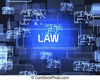 法律, スクリーン, 概念
