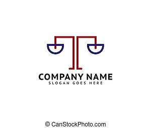 法律, テンプレート, ロゴ, ベクトル, 会社, デザイン