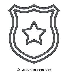 法律, バッジ, 警察, 保護, 印, パターン, バックグラウンド。, ベクトル, 士官, グラフィックス, アイコン, 線, 星, 白, 線である