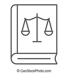 法律, ベクトル, 線である, バックグラウンド。, 正義, パターン, 白, 印, 天秤座, 薄くなりなさい, グラフィックス, アイコン, 線, 法律書