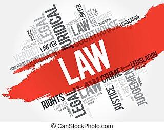 法律, 単語, 雲