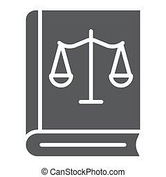 法律, 天秤座, バックグラウンド。, 固体, パターン, 印, 正義, ベクトル, グラフィックス, アイコン, 白, 法律書, glyph