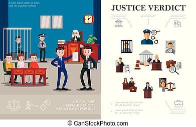 法律, 平ら, 概念, システム