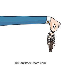 法律, 腕, 長い間