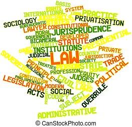 法律, 詞, 雲