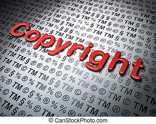 法律, concept:, 著作権, 上に, 法律, 背景