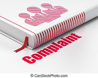 法律, concept:, 關閉, 書, 由于, 紅色, 商業界人士, 圖象, 以及, 正文, 抱怨, 上, 地板,...