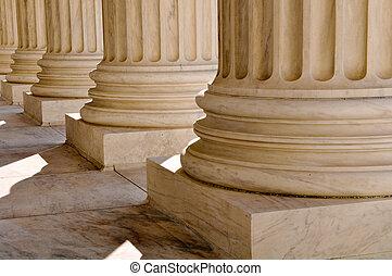 法律, cour, 情報, 州, 柱, 最高, 合併した