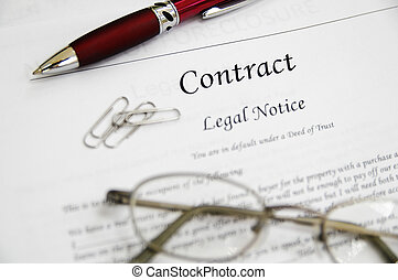 法的契約, ペーパー, ∥で∥, ペン, ガラス