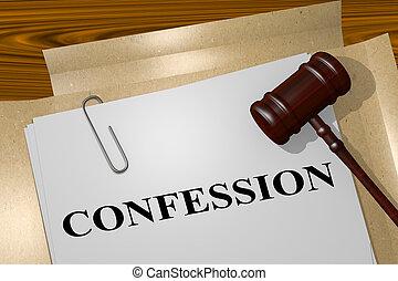法的, -, 概念, confession
