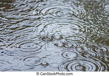 泡, から, ∥, 雨, 中に, a, 水たまり