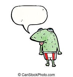 泡, スピーチ, 漫画, カエル
