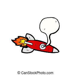泡, スピーチ, 漫画, ロケット