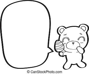 泡, スピーチ, 熊