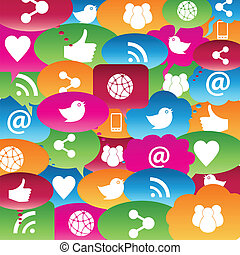 泡, ネットワーク, 話, 社会