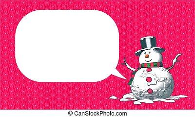 泡, ブランク, パターン, 雪だるま, bg, 幾何学的, 赤, スピーチ, イラスト