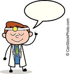 泡, ベクトル, スピーチ, 漫画, 医者