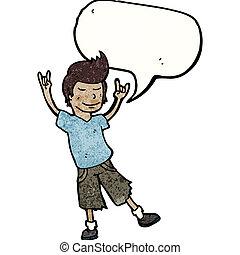 泡, 人, スピーチ, 漫画, 幸せ