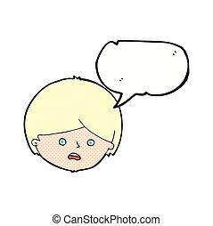 泡, 漫画, スピーチ, 男の子, 不幸