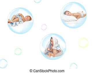 泡, 石鹸, 子供