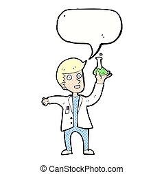 泡, 科学者, スピーチ, 漫画, 幸せ