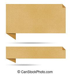 泡, 話, origami, リサイクルされる, paper.