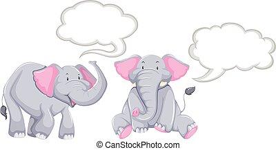 泡, 象, スピーチ, ブランク