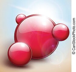 泡, 赤い背景