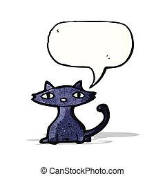 泡, 黒, スピーチ, 漫画, ねこ