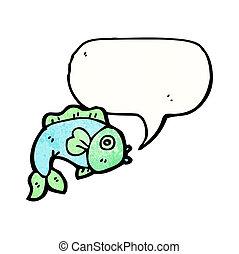 泡, fish, スピーチ, 漫画