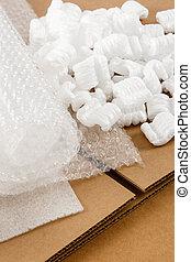 波形, 箱, 材料, 包装