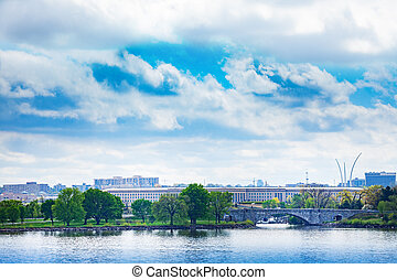 波托馬克河, 在上方, 河, 五角大樓, 我們, arlington