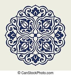 波斯人, pattern., 輪