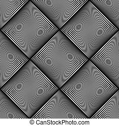 波状, チェックされた, texture., ライン, seamless, pattern.