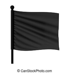 波状, 旗, mockup