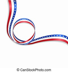 波状, illustration., アメリカ人, バックグラウンド。, 旗, ベクトル