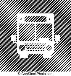 波紋織り, illustration., バス, 印, バックグラウンド。, vector., icon., 穴
