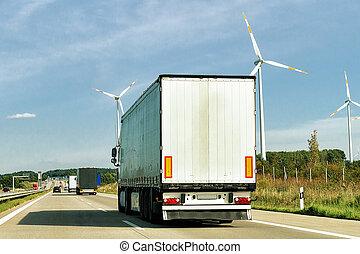 波蘭, 卡車, 路