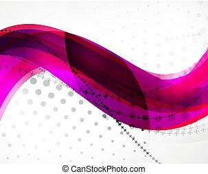 波, ベクトル, 抽象的, 背景, 線