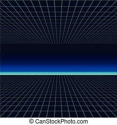 波, ベクトル, 80s., ポスター, 線, 背景, 未来, style., レトロ, 1980s, イラスト, synth, 未来派