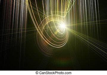波, ライト, デザイン, 背景, 技術, 未来派