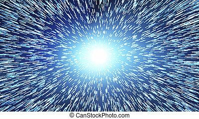 波, 特異性, concept., spacetime, ハイパー, ジャンプ, 時間, interstellar., ...