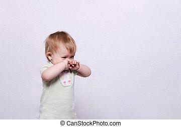 泣いている赤ん坊, 女の子