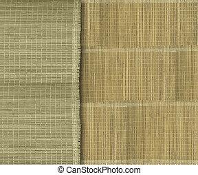 泥土, 黃綠色, 背景, 剝去, 竹子