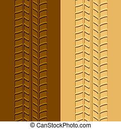 泥, 砂, ベクトル, 跡, tyre